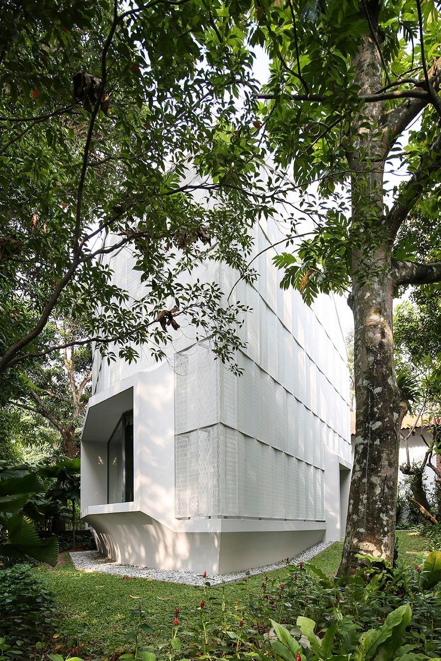 Hut House in the Holland Village neighbourhood of Singapore, covered in folded aluminium