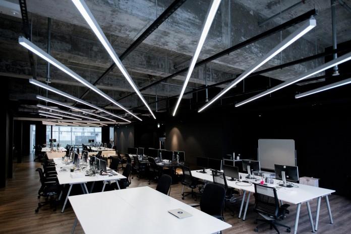minimalist black and white interior of 9gag office in hong On interior design 9gag