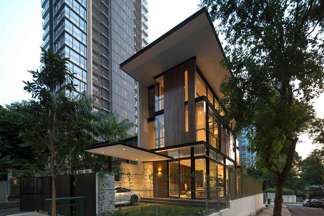 Paterson 3 residence comprises 2 corner terrace units in for Terrace house singapore