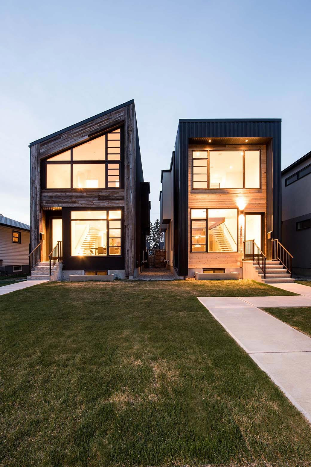 Rustic and modern B85 + B90 homes by Building Bloc design