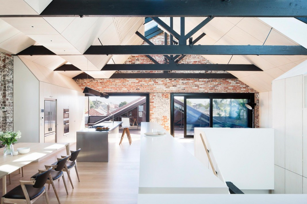 Warehouse Converted into Water Factory Residence in Fitzroy by Andrew Simpson Architects