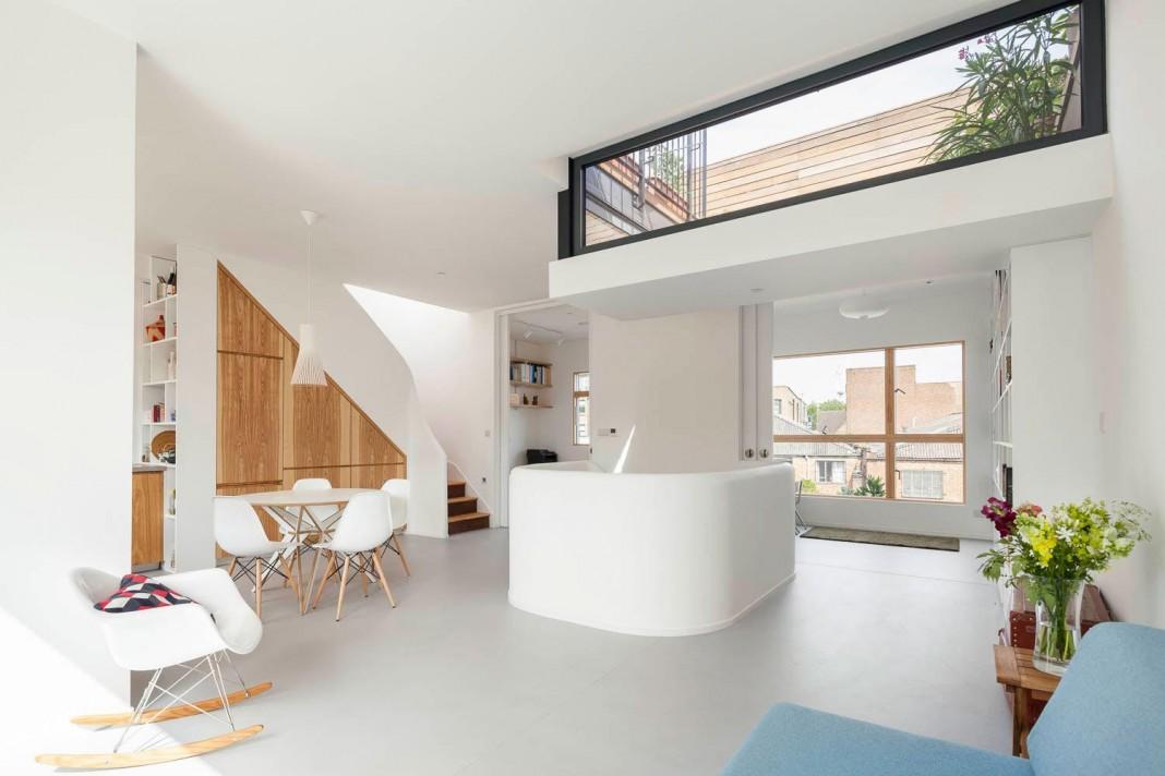 Bright interior design of Gransden Avenue Residence in London, designed by Scenario Architecture