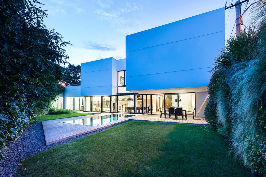 Contemporary White Cubes Home in Bratislava by at26 architecture & design