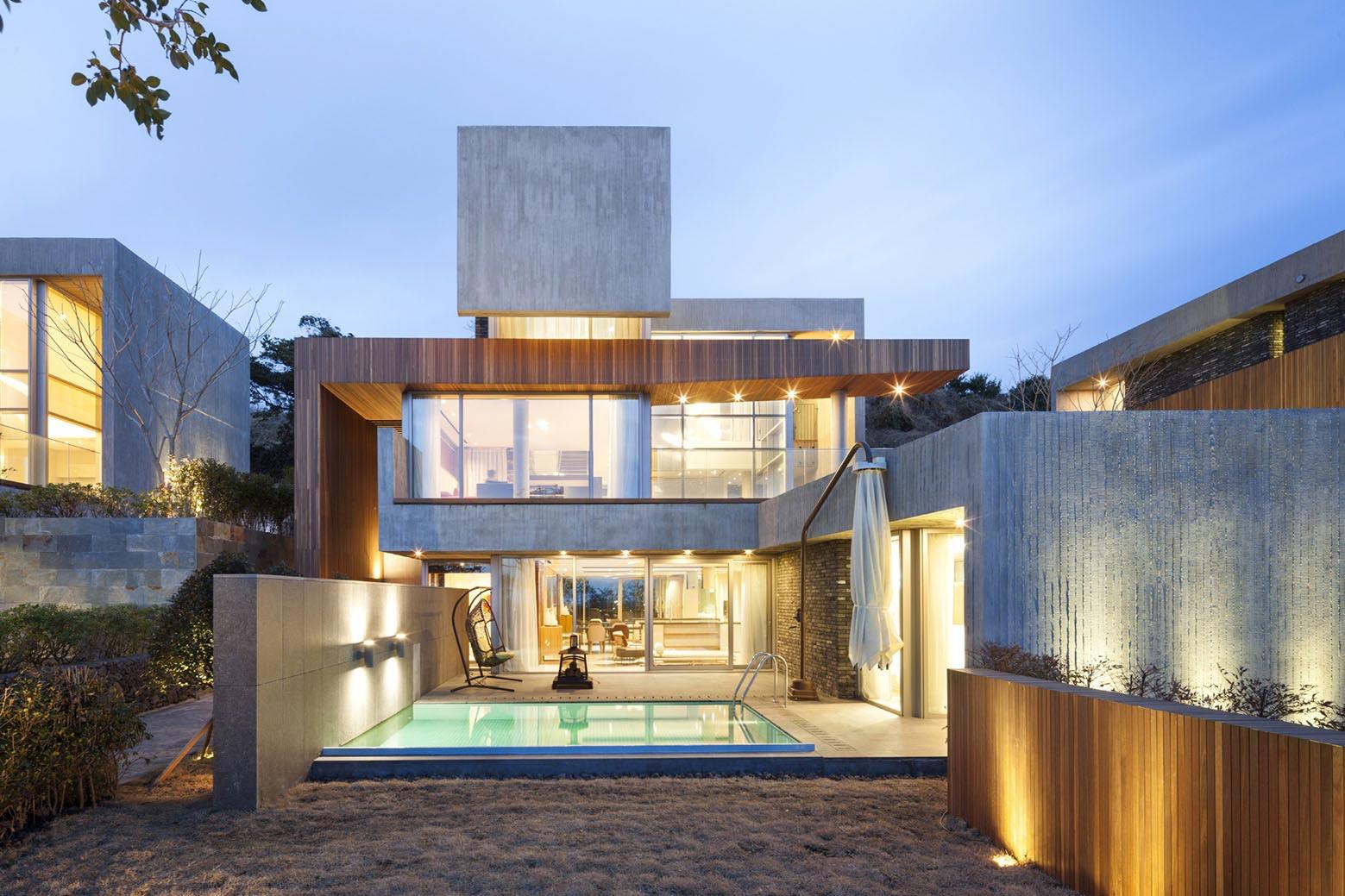 Modern jeju bayhill pool eau design kim dong jin caandesign architecture and home design blog