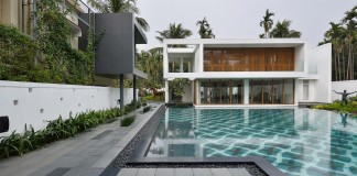 Pool House Set amidst lush greens of rural Bengal by Abin Design Studio