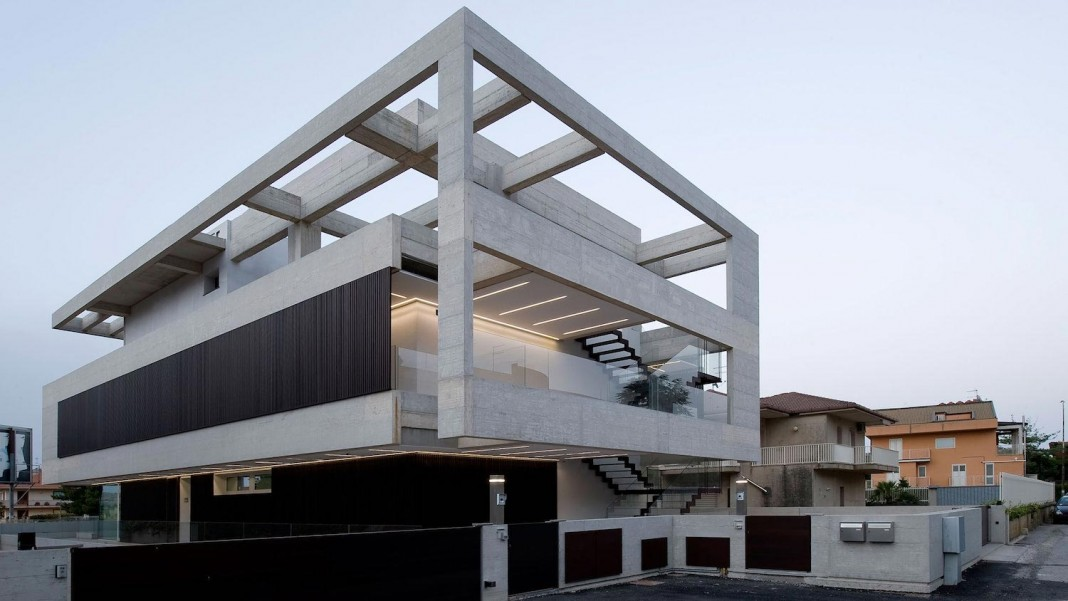Concrete modern NL-NF Villa in Ragusa, Italy by Architrend