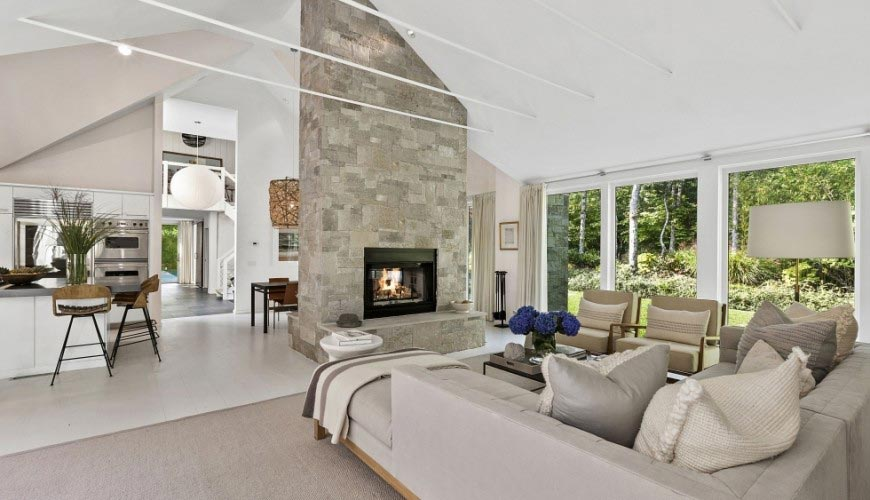 Contemporary redesign of traditional Peters Path House in East Hampton by Bruce D. Nagel