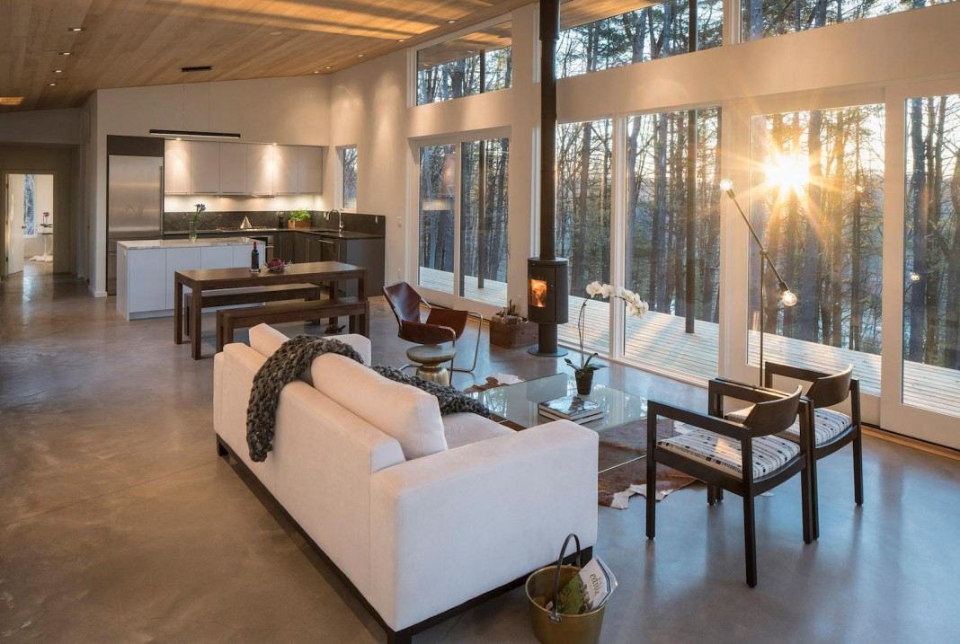 Lantern Ridge House Perched At The Top Of A Wooded Knoll In The Hudson  Valley By. Home Design