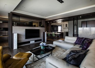 Lin's Modern Apartment in Kaohsiung City, Taiwan, designed by PMD