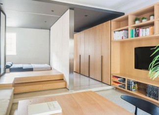 MoreDesignOffice design the Folding Apartment, a stylish compact loft in Shanghai