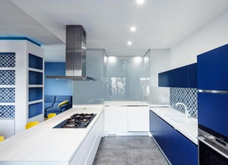 Prismatic Blue Apartment in Rome, Italy by Brain Factory – Architecture & Design