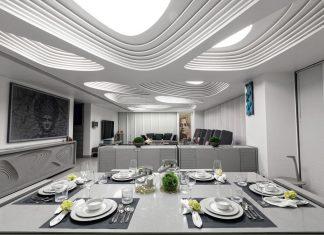 Apical Reform design the futuristic 1102 Penthouse in Ahmedabad, India