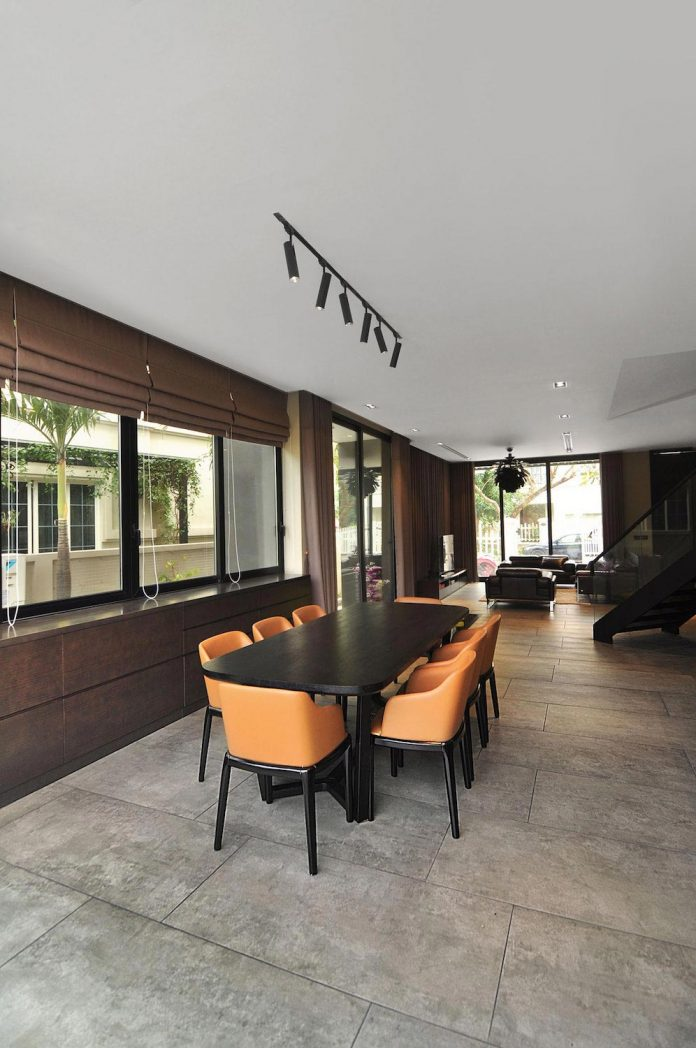 classic exterior and modern interior of t house in ha noi designed by