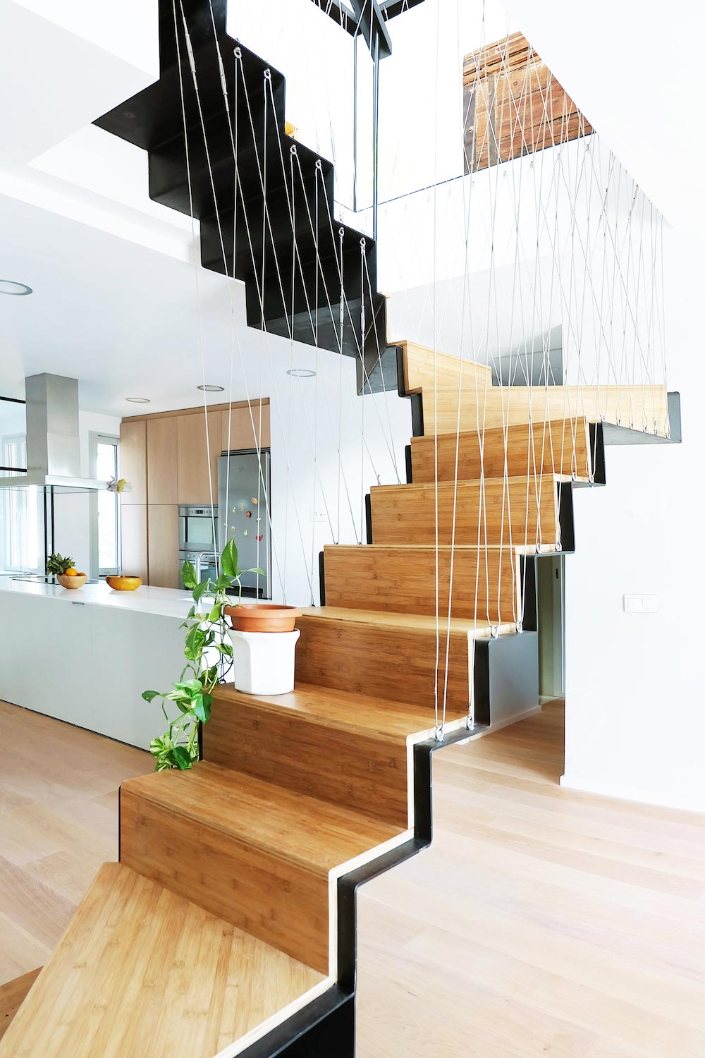 Contemporary Bright duplex in Madrid's city center by Marta Badiola + Jorge Pizarro