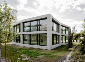 FHV Architectes design the ST-Sulpice II Villa made by concrete, glass and metal