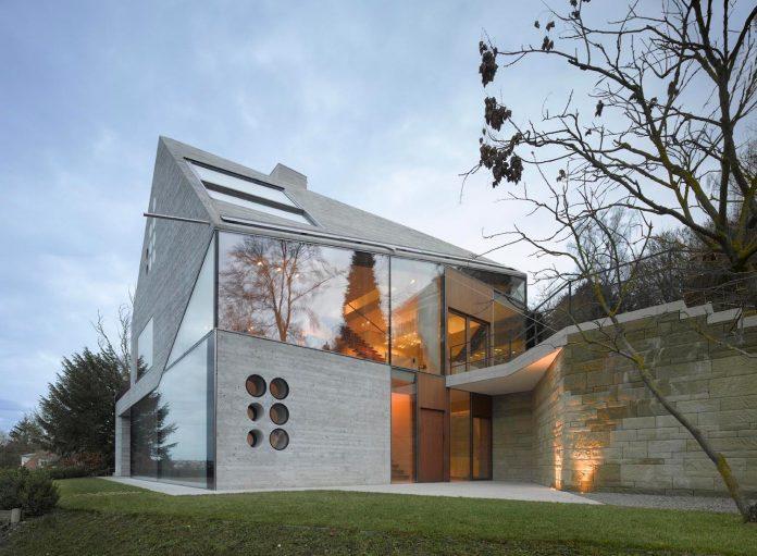 Wonderful House 36 Combining Stone Cavern Glass House Matthias