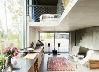 Lie Øyen Arkitekter design the Tussefaret Villa, a little home made by puzzle prefabricated concrete elements
