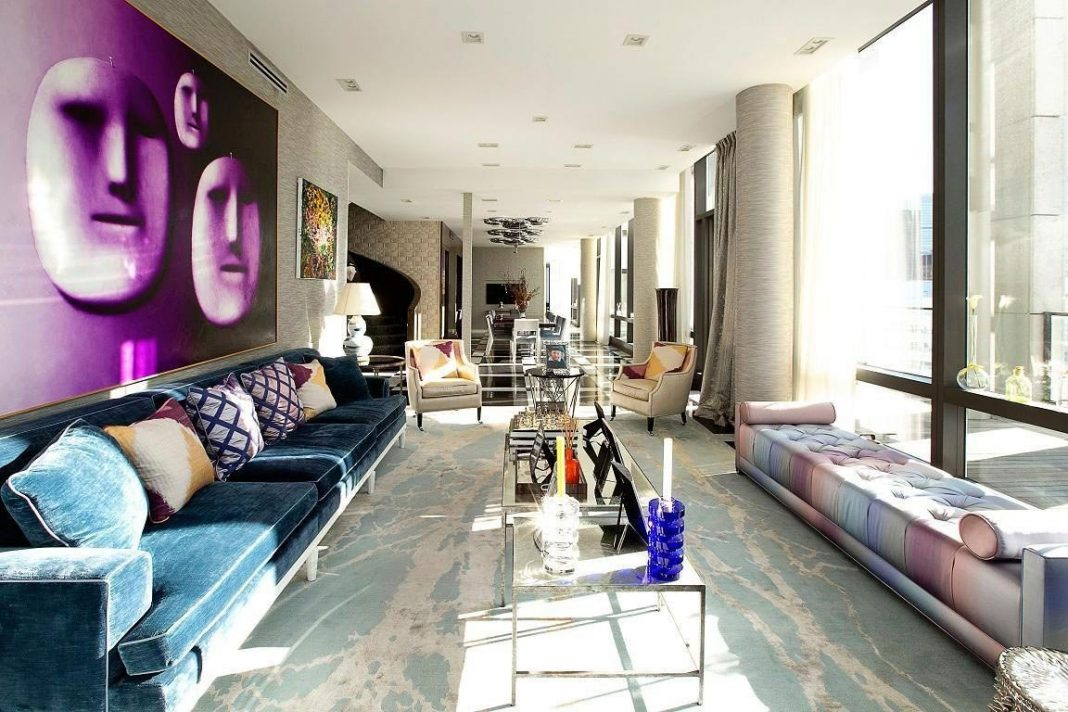 Luxury Tribeca Duplex Penthouse designed by Richard Mishaan