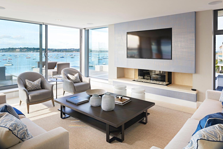 Moondance luxury apartment block in dorset england by for Comedor minimalista