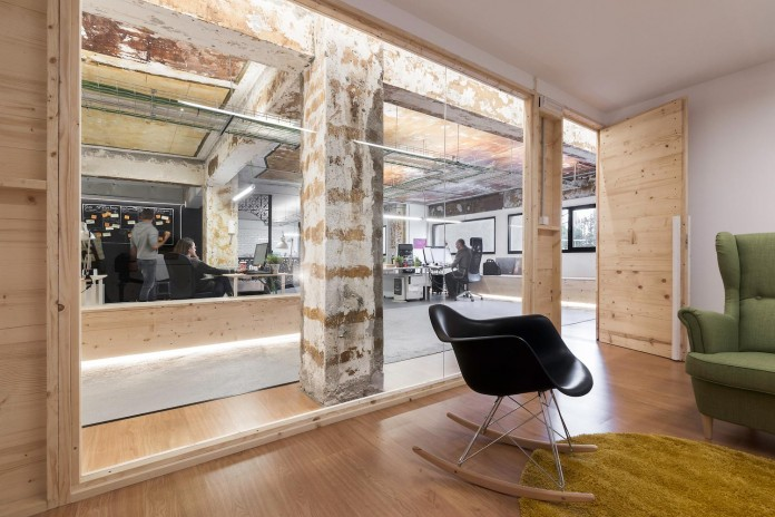 ... Nan Arquitectos Redesign Iconweb Offices Old Billiard Contemporary  ...