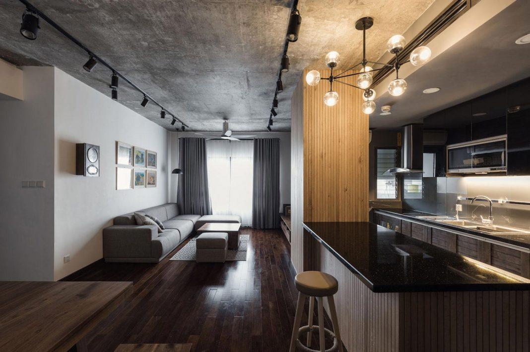 Solemn Contemporary ML Apartment in Hanoi, Vietnam by Le Studio