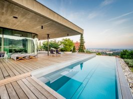 Spectacular views of Linz from the E Villa designed by Caramel Architekten