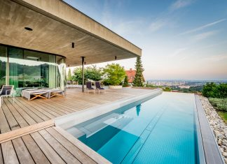 Spectacular views of Linz from the E Villa designed by Caramel Architekten