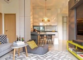 Stylish contemporary loft designed in Singapore by Knq associates
