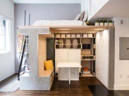 Tiny Domino Loft located in San Francisco, designed by ICOSA Design