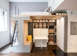 Tiny Domino Loft located in San Francisco, designed by ICOSA Design