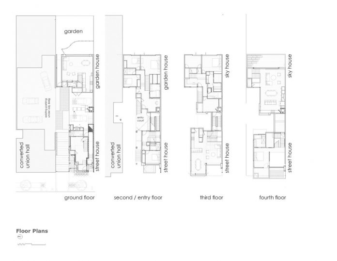 San francisco by the bay townhouse floor plans for Victorian townhouse plans