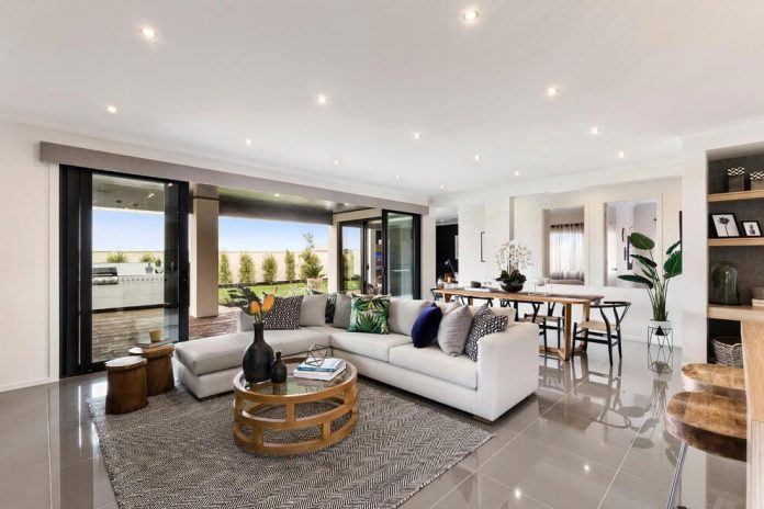 The Botanica Home with a large open plan living area designed by ...