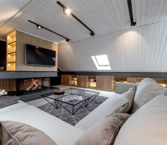 Contemporary attic apartment in Moscow designed by Lofting