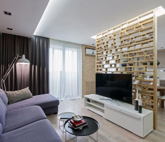 Cozy open space apartment with eco-style elements by Normdsgn