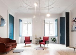 Fala Atelier design the renovation of the 19th century Chiado Apartment in Lisbon, Portugal