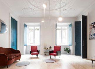 Fala Atelier design the renovation of the 19th century Chiado Apartment in Lisbon, Portugal
