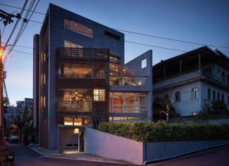 Because of the lack of space YS114 House has been developed vertically by Preposition Architecture