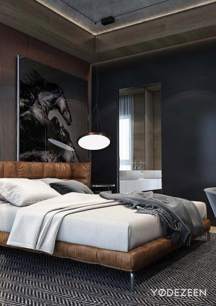Modern residence to hang out in tbilisi georgia by for Mens bedroom ideas pinterest