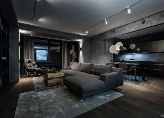 Modern Twilight Apartment Interior in Kiev designed by Yodezeen