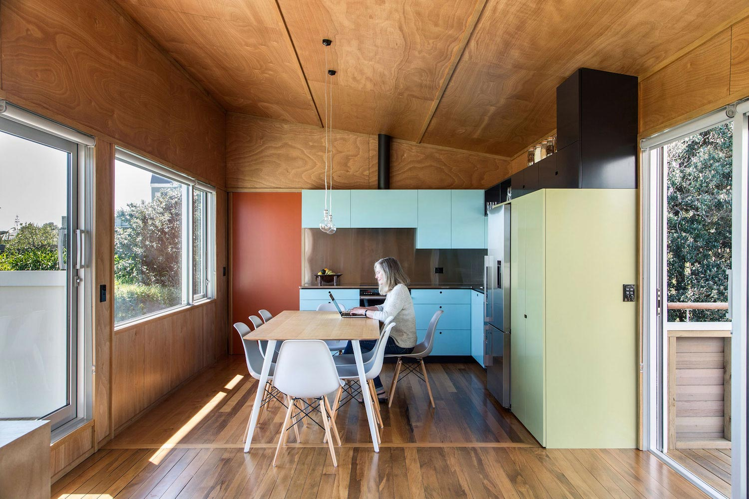 Renovation Field Way Bach House Waikanae New Zealand Designed Parsonson  Architects 12