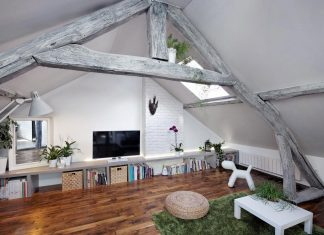Rustic Contemoproary Living under the roof loft in Ivry-sur-Seine, Paris designed by Prisca Pellerin