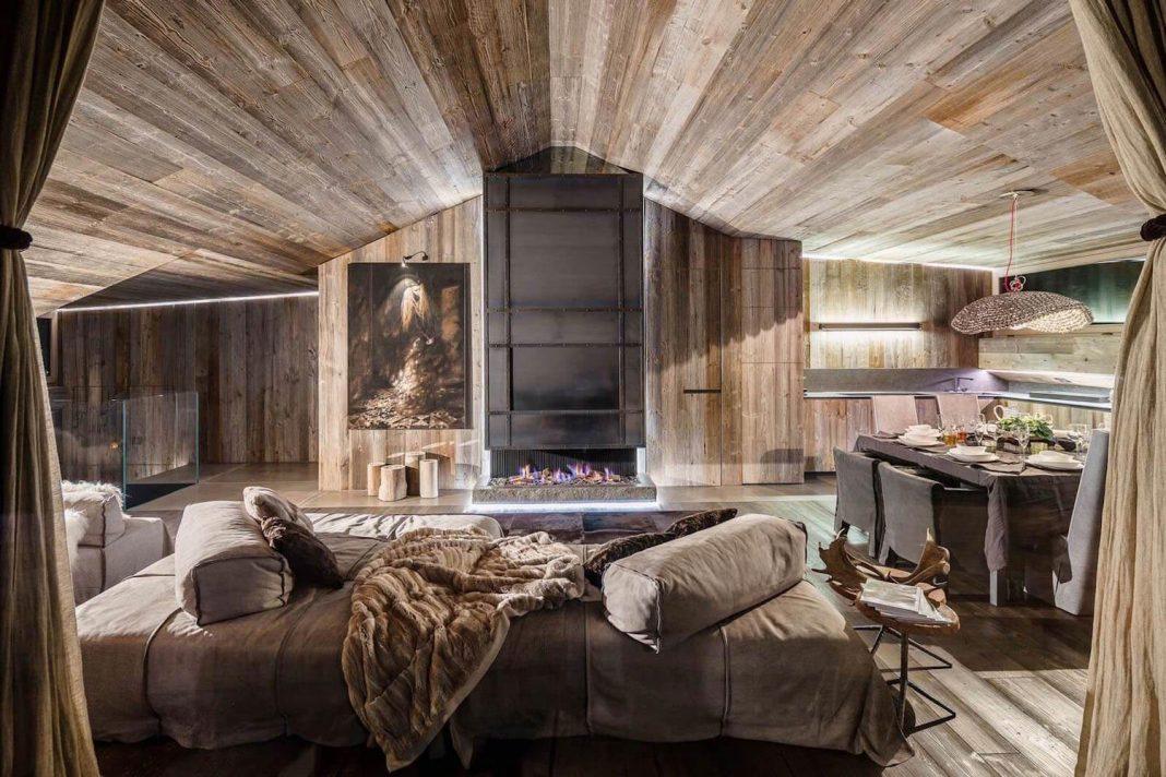 Shades of Gray Luxury Chalet in Cortina D'Ampezzo by Gianpaolo Zandegiacomo