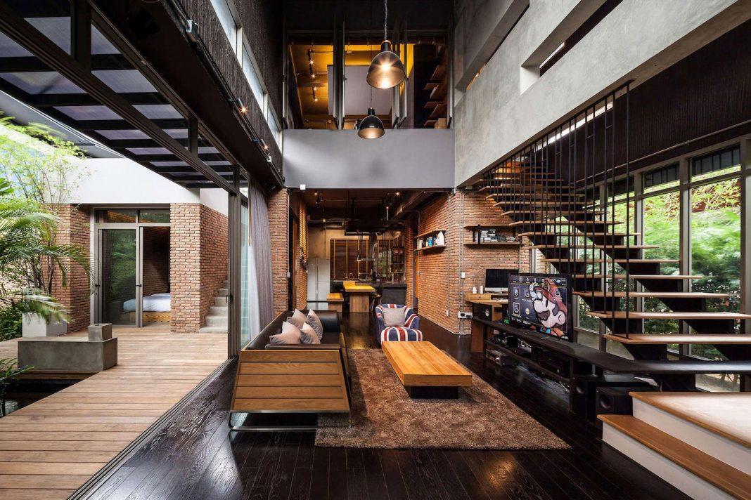 Two Houses at Nichada, Bangkok designed by Alkhemist Architects