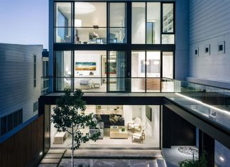 Contemporary chic Butterfly House designed by John Maniscalco Architecture in San Francisco