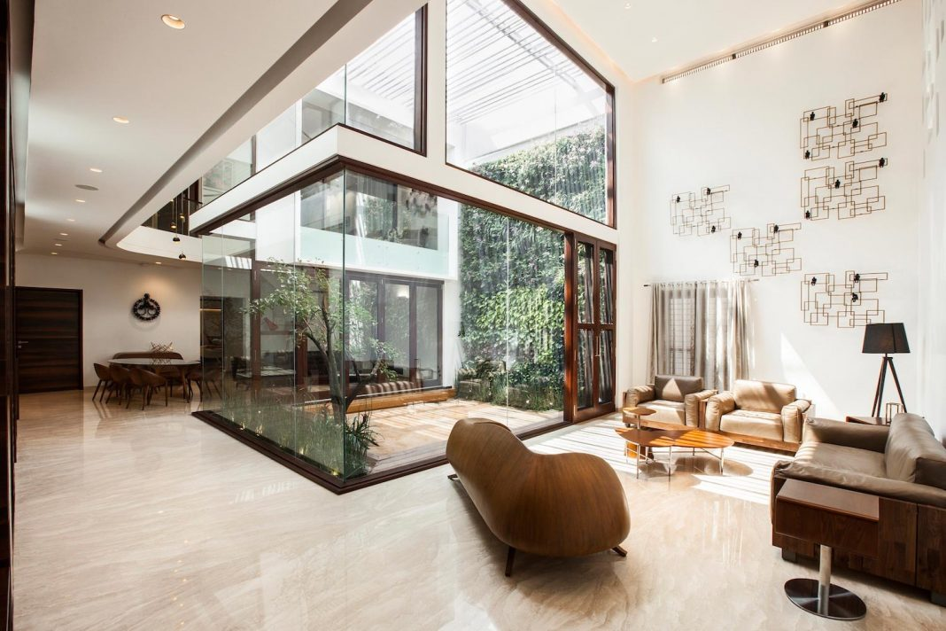 B one h shaped plan contemporary villa by cadence for H shaped house