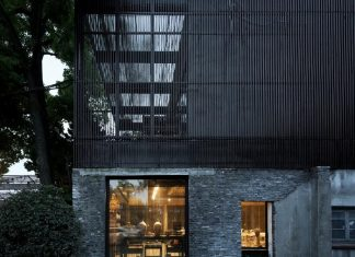 Ceramic townhouse in Shanghai designed by ArchUnion