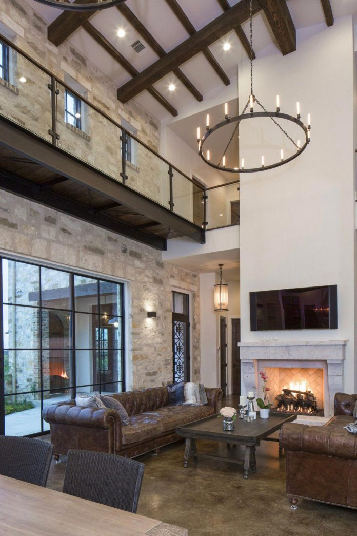 Contemporary italian farmhouse in texas with a rustic style and steel elements designed by - What is contemporary style ...
