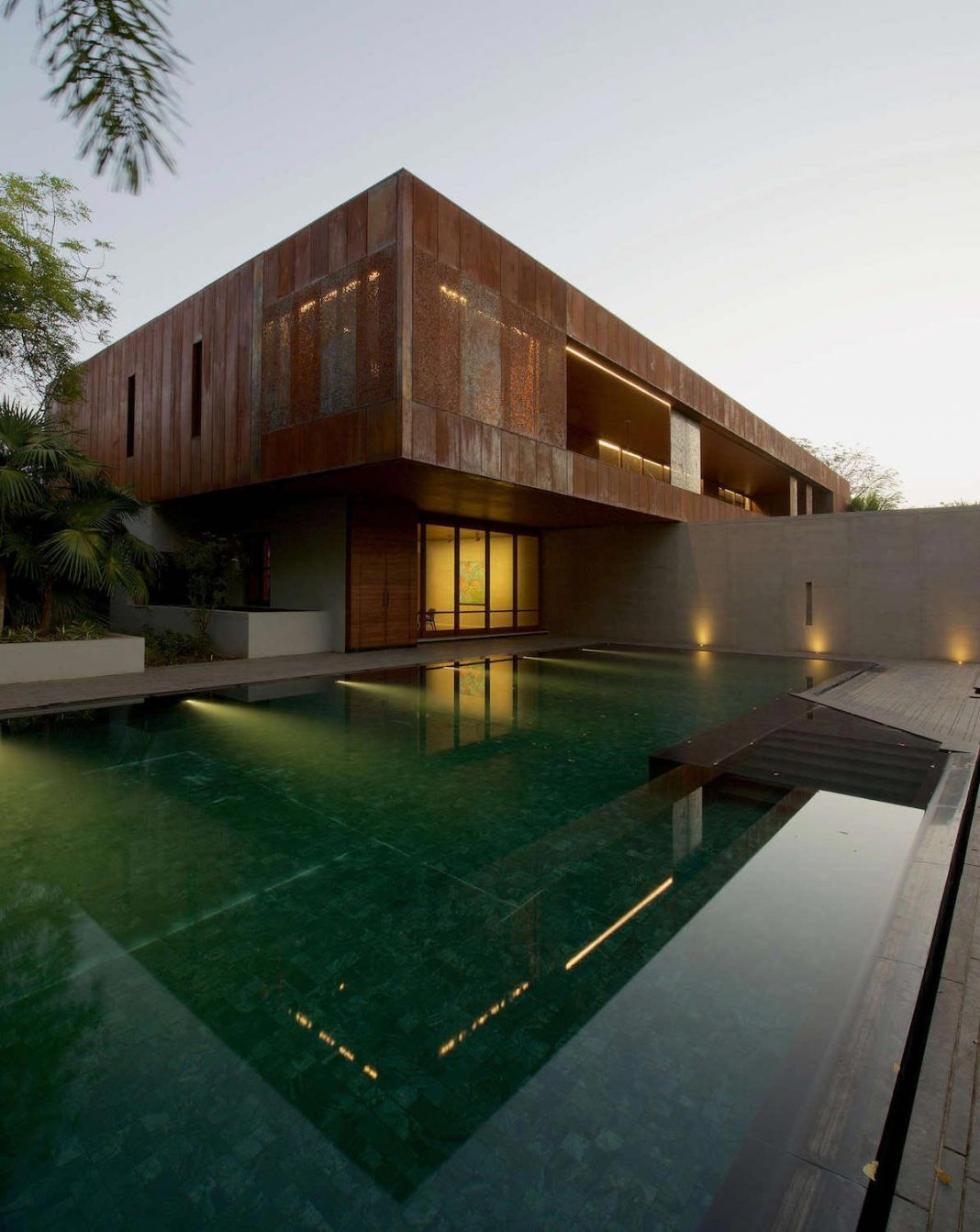 Contemporary Two Storey Diya Residence Located In Ahmedabad India By Spasm Design Architects