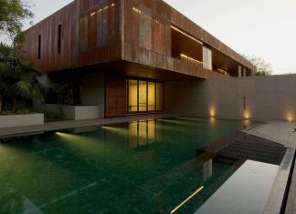 Contemporary two-storey DIYA residence located in Ahmedabad, India by SPASM Design Architects