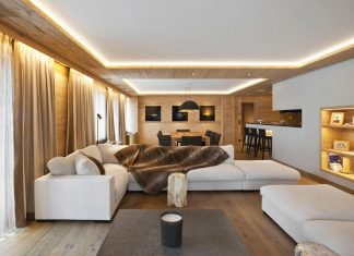 Fairytale mountain wooden apartment in Rougemont, Switzerland by Plusdesign